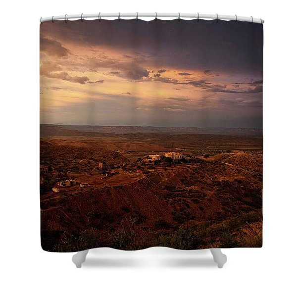 Monsoon Storm Afterglow Shower Curtain