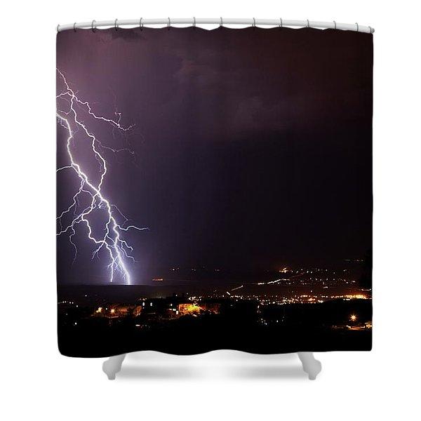 Monsoon Storm Shower Curtain
