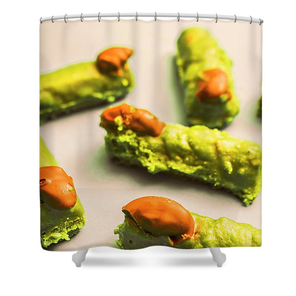 Monster Finger Cake Shower Curtain