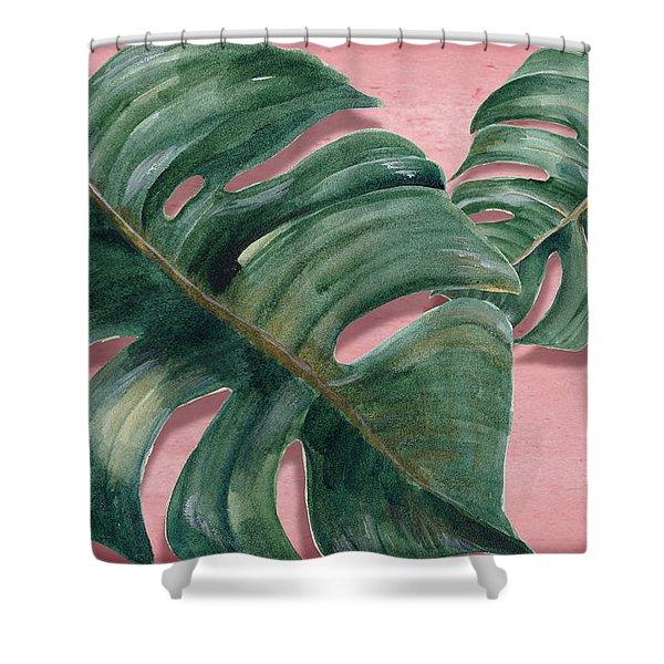 Monstera Leaf  Shower Curtain
