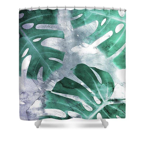 Monstera Theme 1 Shower Curtain