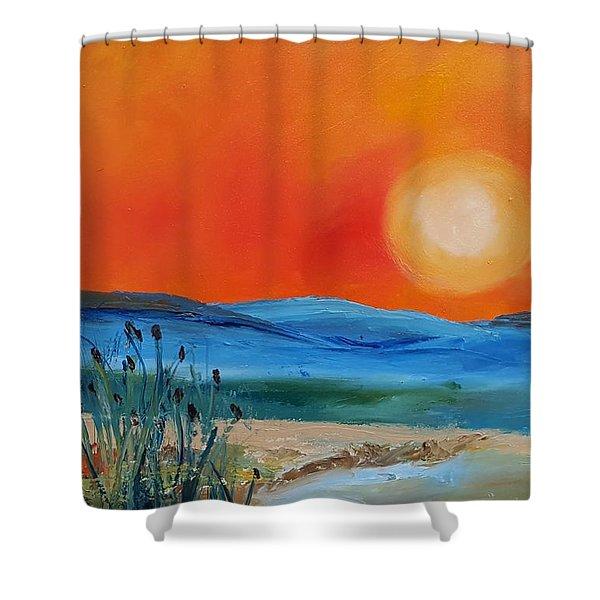 Montana Firery Sunset             49 Shower Curtain