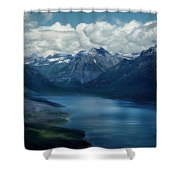 Montana Mountain Vista And Lake Shower Curtain