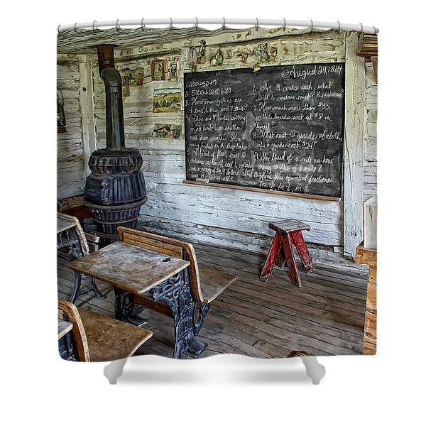 Montana School Lesson August 29 1864 Shower Curtain
