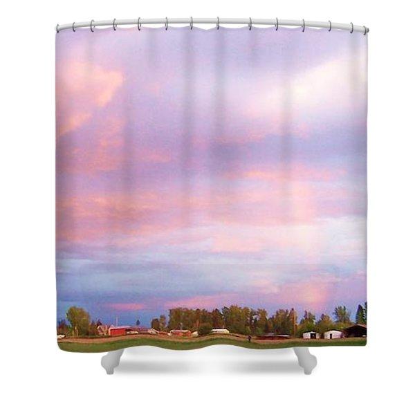 Montana Sunset 1 Shower Curtain