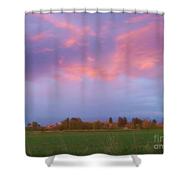 Montana Sunset 2 Shower Curtain