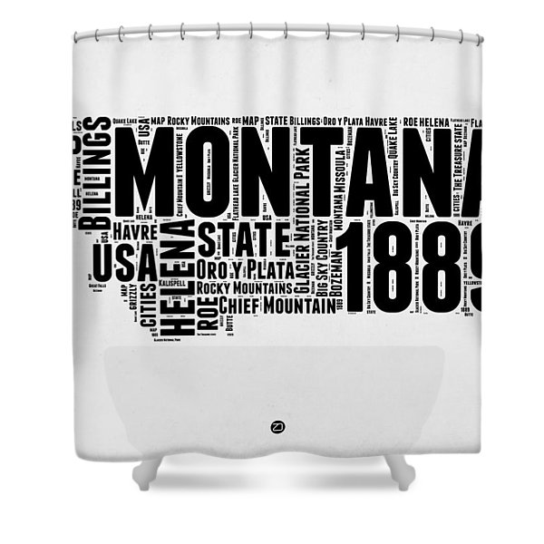 Montana Word Cloud 2 Shower Curtain