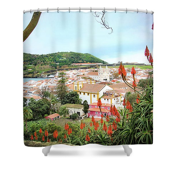 Monte Brasil And Angra Do Heroismo, Terceira Shower Curtain