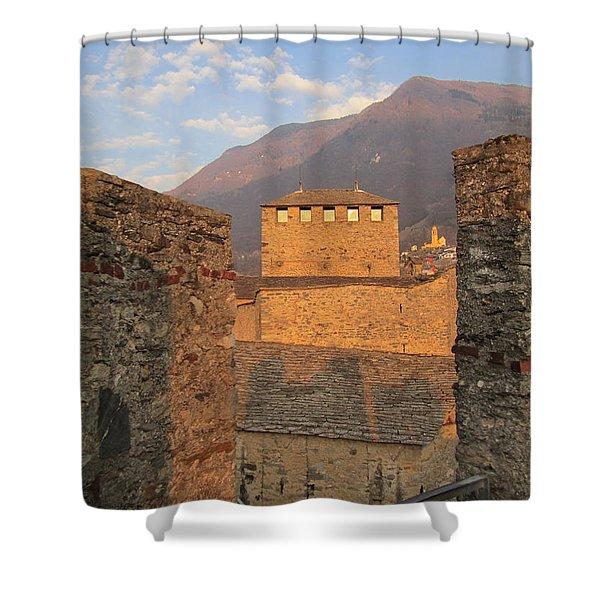 Montebello - Bellinzona, Switzerland Shower Curtain
