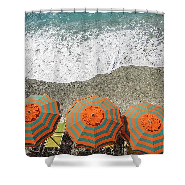 Monterosso Umbrellas Shower Curtain