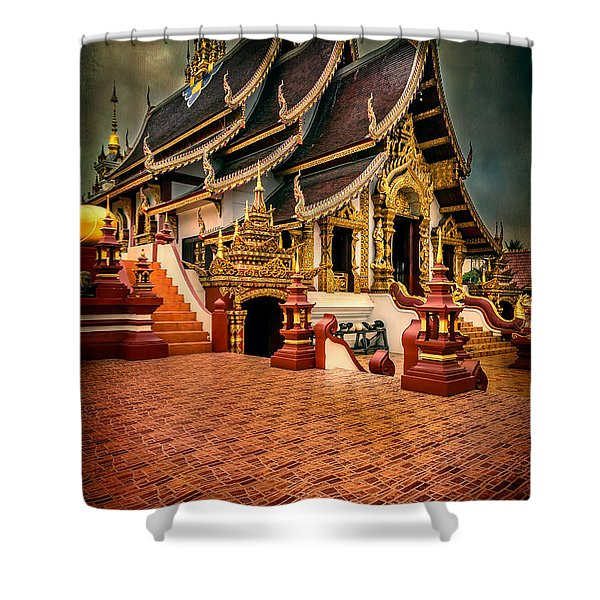 Monthian Temple Chiang Mai  Shower Curtain