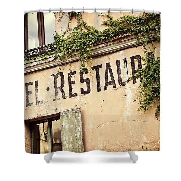 Montmartre Hotel Restaurant  Shower Curtain