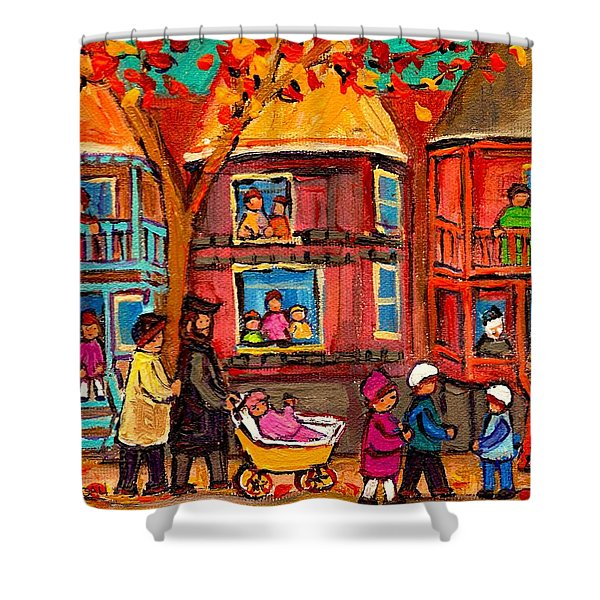 Montreal Early Autumn Shower Curtain