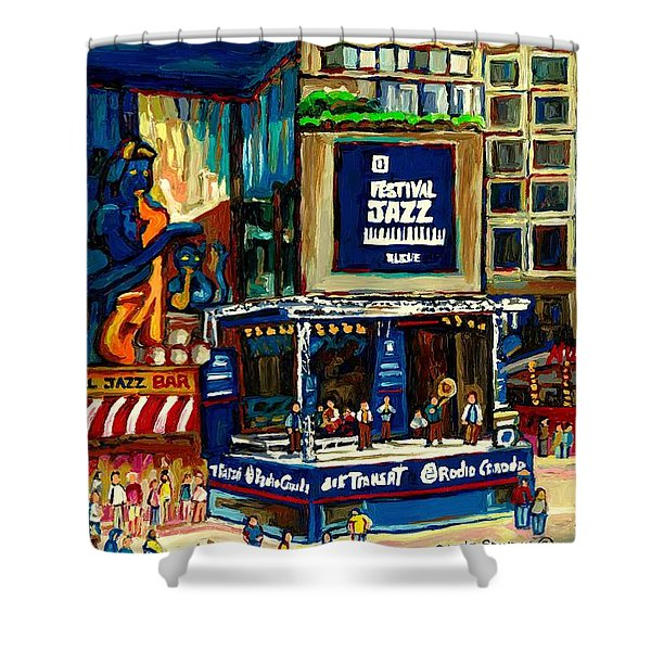 Montreal International Jazz Festival Shower Curtain