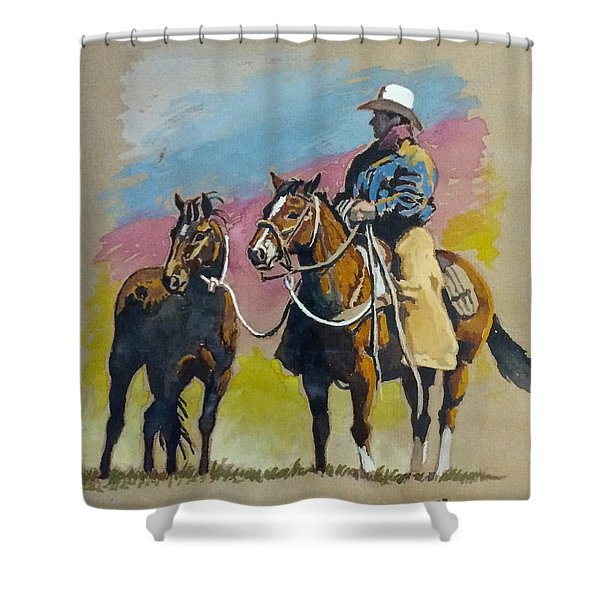 Monty Roberts Shower Curtain