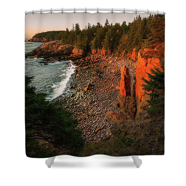 Monument Cove Shower Curtain