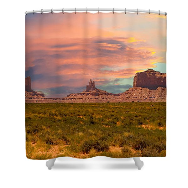 Monument Valley Landscape Vista Shower Curtain