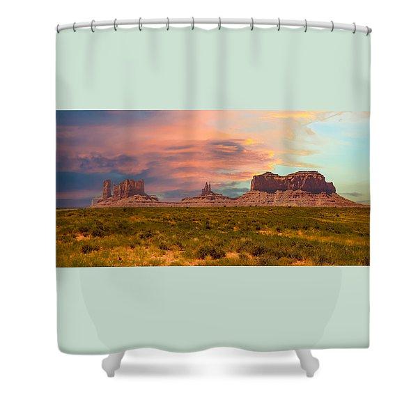 Monument Valley Landscape Vista Shower Curtain