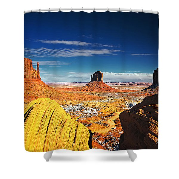 Monument Valley Mittens Utah Usa Shower Curtain