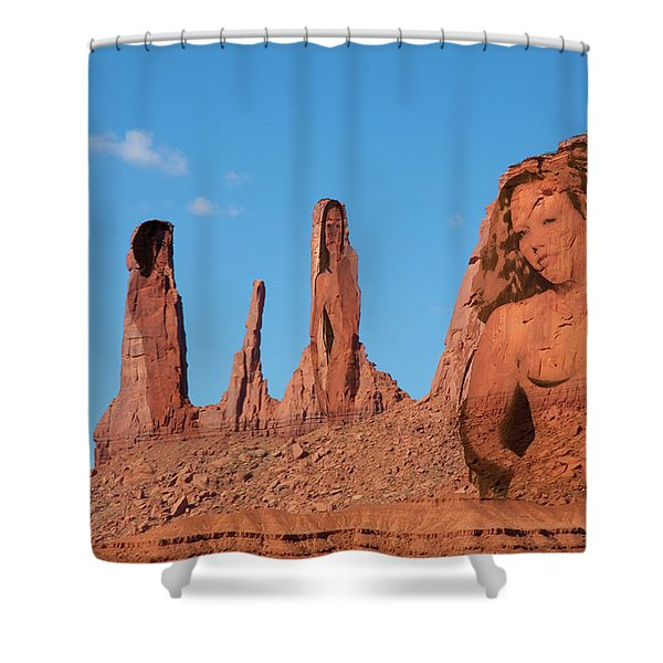 Monument Valley Nymph #3 Shower Curtain