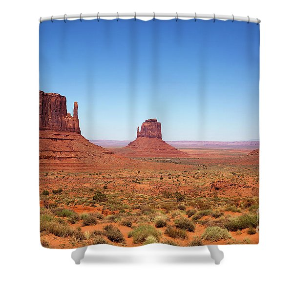 Monument Valley Utah The Mittens Shower Curtain