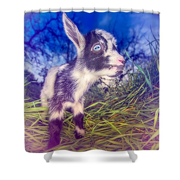 Moo Cow Love Grass Shower Curtain