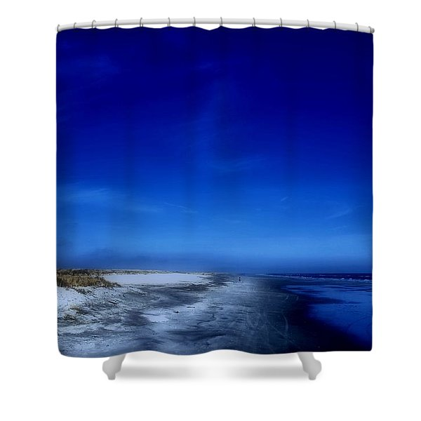 Mood Of A Beach Evening - Jersey Shore Shower Curtain