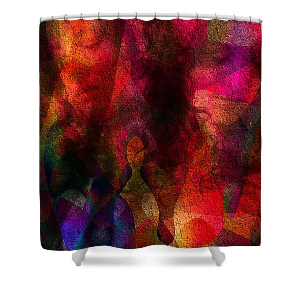 Moods In Abstract Shower Curtain