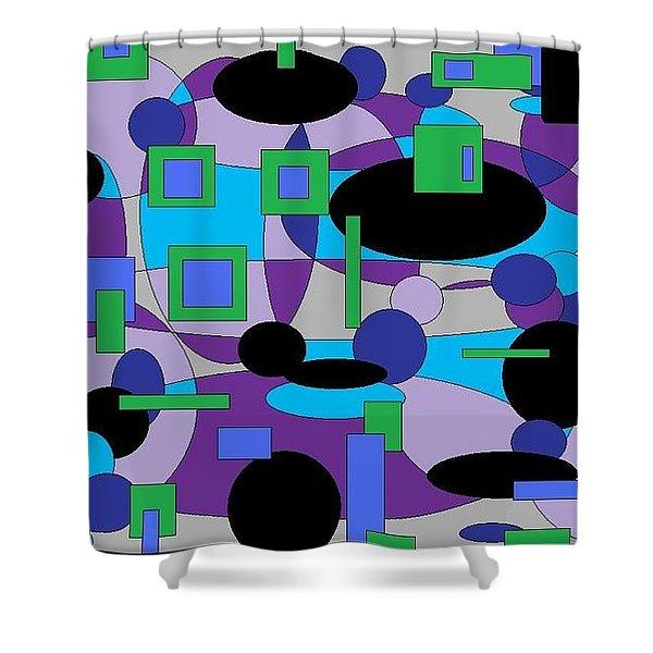 Moody Purple Shower Curtain
