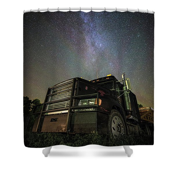 Moody Trucking Shower Curtain