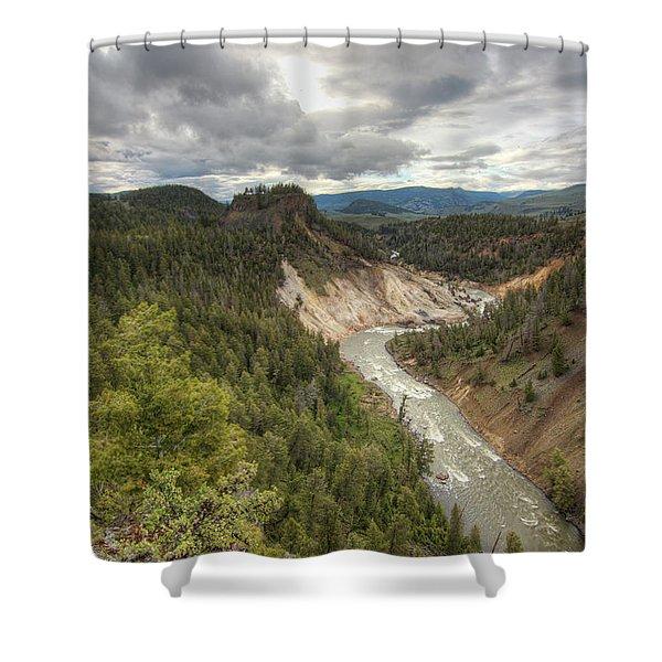Moody Yellowstone Shower Curtain