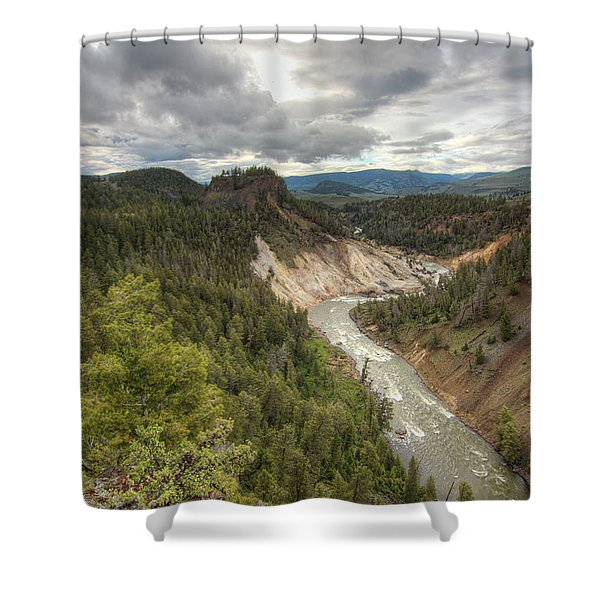 Moody Yellowstone Shower Curtain
