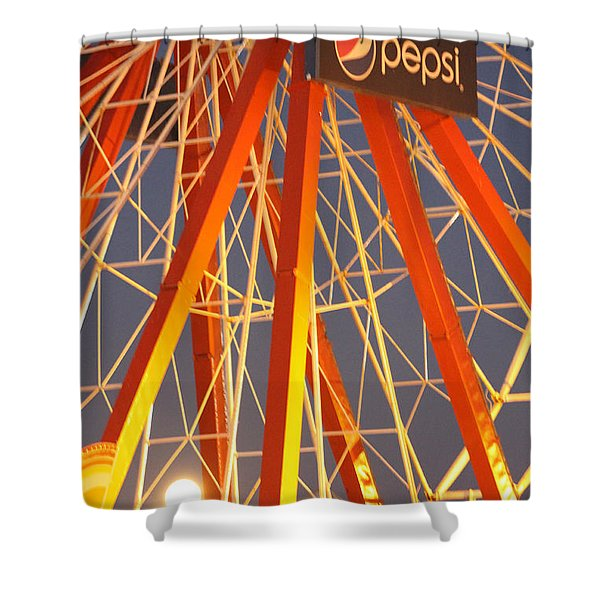Moon And The Ferris Wheel Shower Curtain