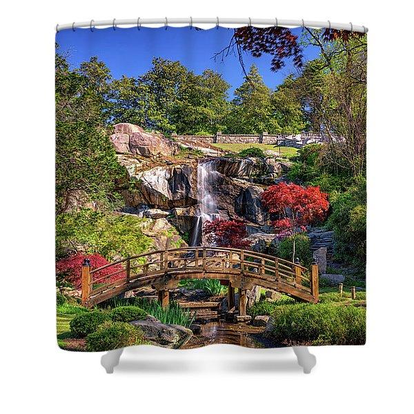 Moon Bridge And Maymont Falls Shower Curtain