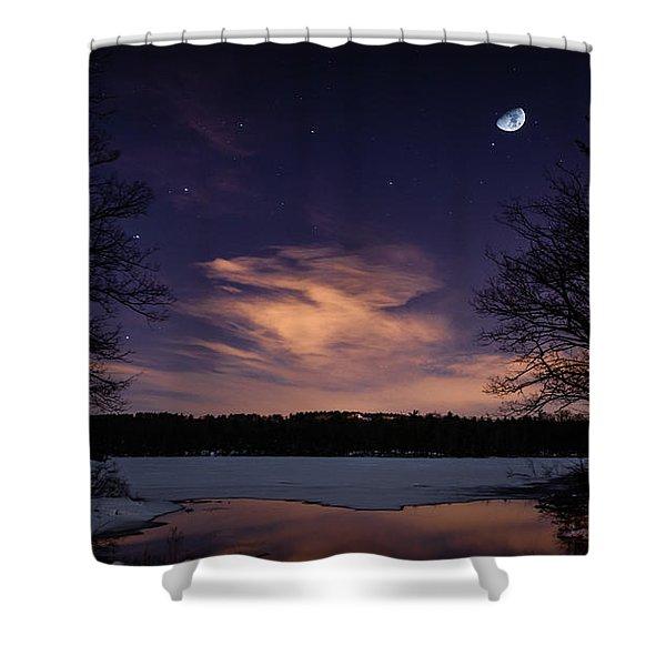 Moon Lake Shower Curtain
