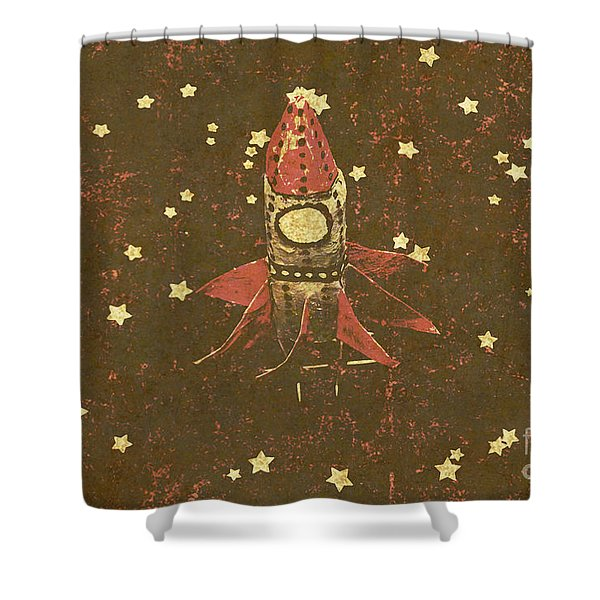 Moon Landings And Childhood Memories Shower Curtain
