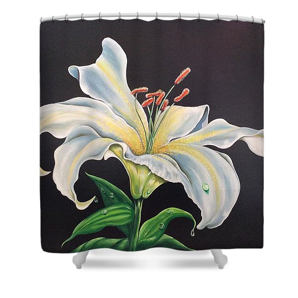 Moon Light Lilly Shower Curtain