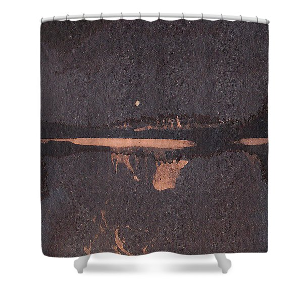 Moon Lit River Bank Shower Curtain