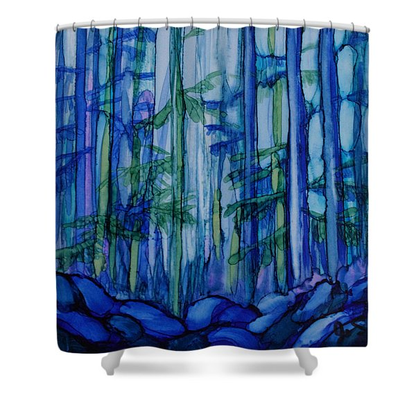 Moonlit Forest Shower Curtain