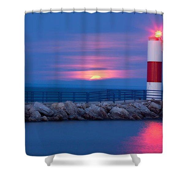 Moon Marker Shower Curtain