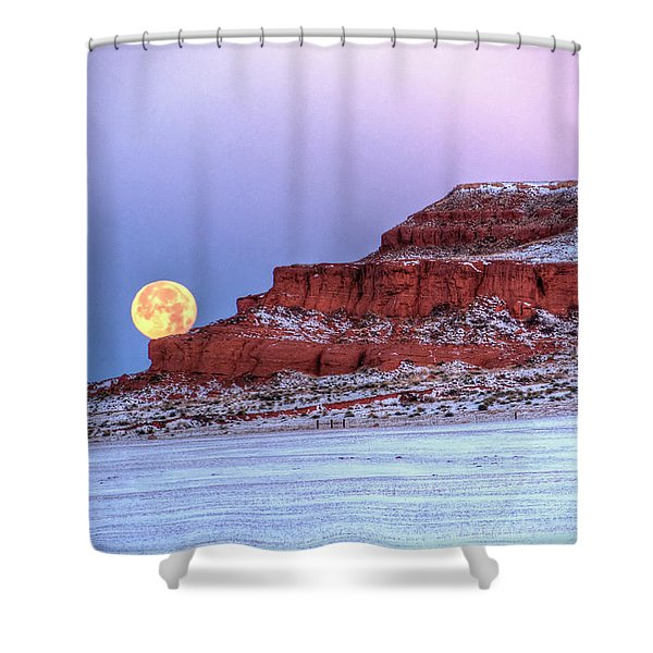 Moon Of The Popping Trees Shower Curtain