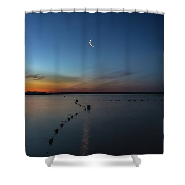 Moon Over Cayuga Shower Curtain