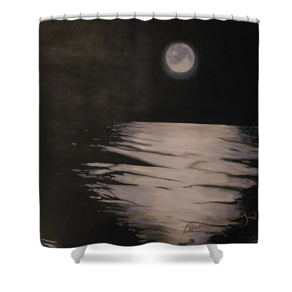 Moon Over The Wedge Shower Curtain