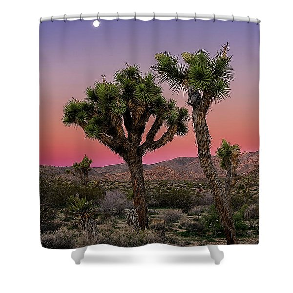 Moon Over Joshua Tree Shower Curtain