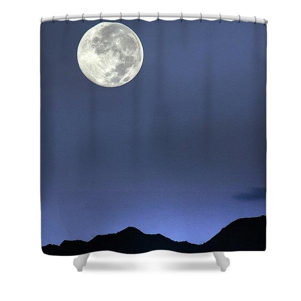 Moon Over Ko'olau Shower Curtain