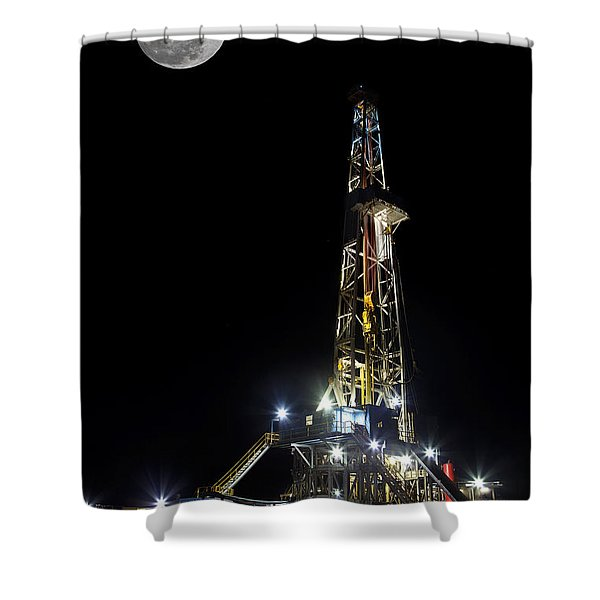 Moon Over Latshaw 10 Shower Curtain