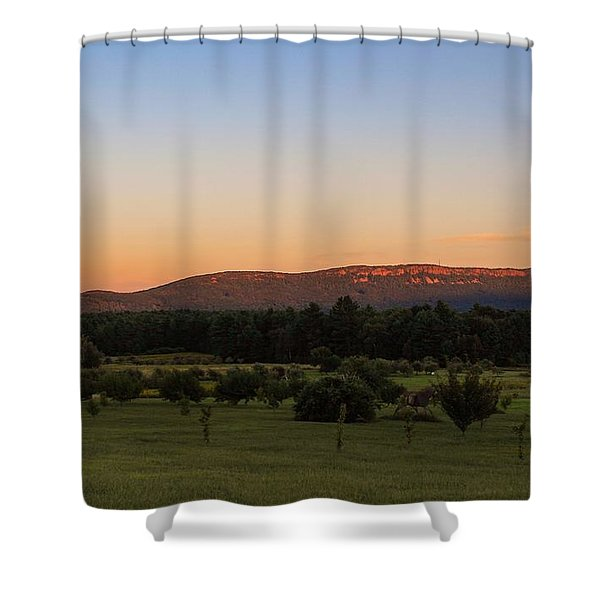 Moon Over Mount Tom Shower Curtain