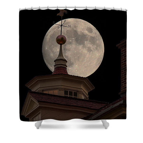 Moon Over Mount Vernon Shower Curtain