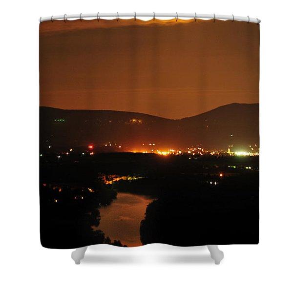 Moon Over Shenandoah Shower Curtain