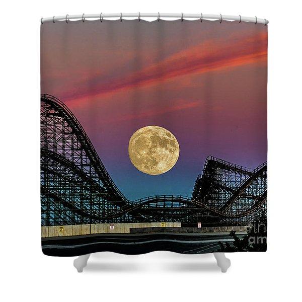 Moon Over Wildwood Nj Shower Curtain